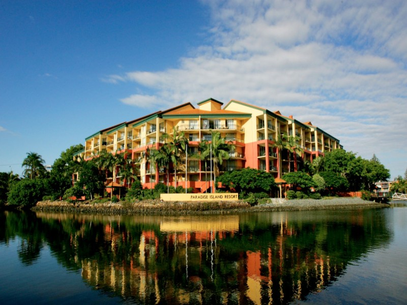 Paradise Island Resort - front view of the building.