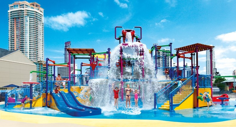 The ultimate kids waterpark and lagoon at Paradise Resort - Hightide Holidays