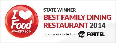 Sage Restaurant Winner of the 'I Love Food' Award's Best Family Restaurant 2014