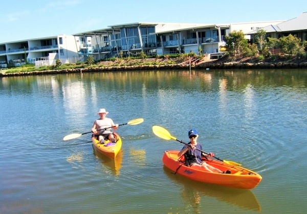 Novotel Twin Waters Free Activities - kayaking at Twin Waters Sunshine Coast - Discover Queensland