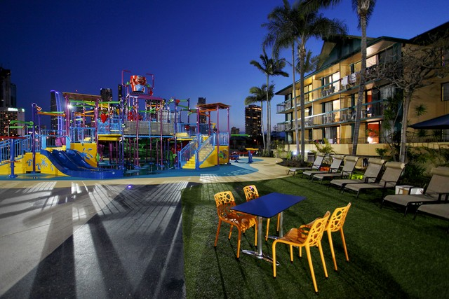 Z4K Waterpark at Night in Paradise Resort, Surfers Paradise - Discover Queensland