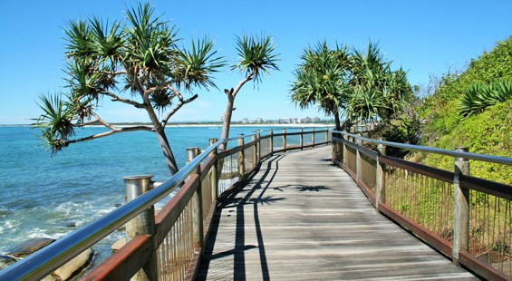 Kings Beach Boardwalk in Caloundra, Sunshine Coast - Discover Queensland