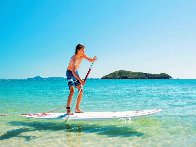 Stand Up Paddle Boarding in Yeppoon along the Capricorn Coast - DIscover Queensland