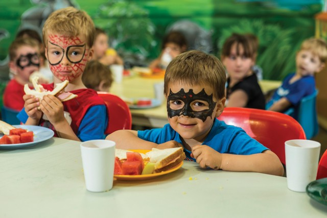Kids in Batman Masks in the Zone 4 Kids, Kids Club - Hightide Holidays