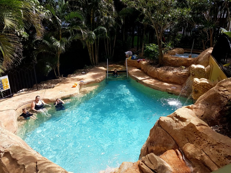 One of the little lagoon pool nooks in Mantra Sun City - Discover Queensland