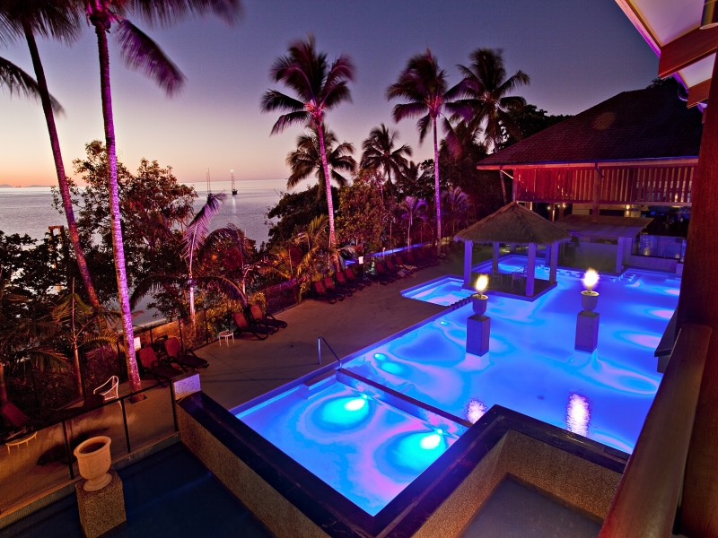 Fitzroy Island Resort Pool at Night | Discover Queensland