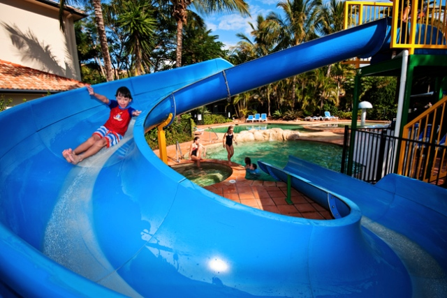 Turtle Beach Resort Waterslide in Splash Zone Water Park | Gold Coast Family Accommodation | Discover Queensland