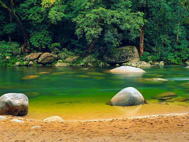 Mossman George outside of Port Douglas, Tropical North Queensland Swimming Hole | Discover Queensland