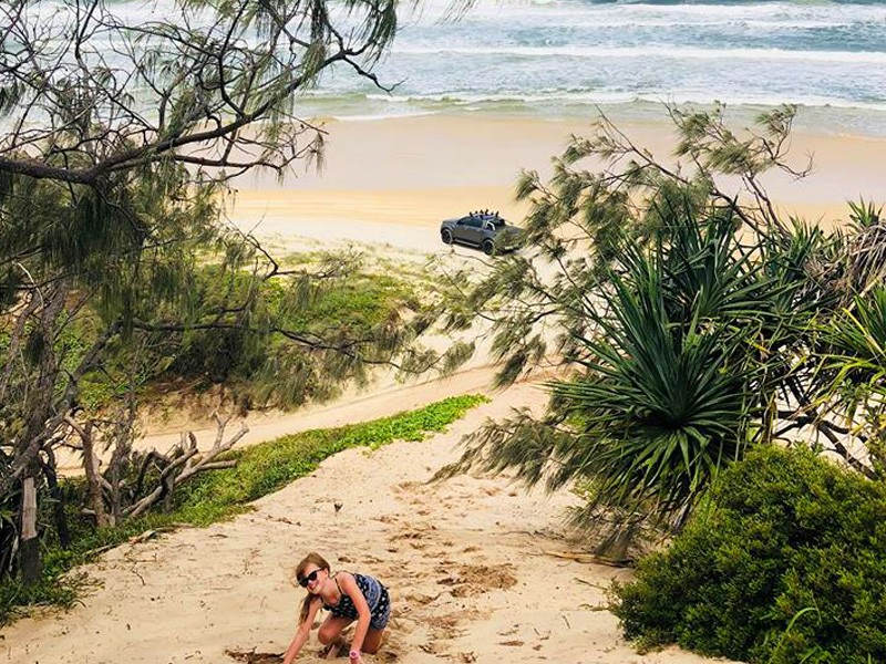 Picnic Lunch atop the sand cliffs | Our 3 Night Escape to Beach Road Holiday Homes at Noosa Northshore | Discover Queensland