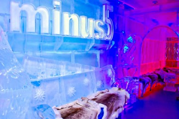 Minus 5 Ice Bar Logo in Ice - Queenstown Holidays
