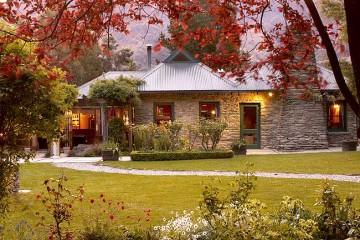 Gantleys Restaurant set amongst beautiful gardens - Queenstown Holidays