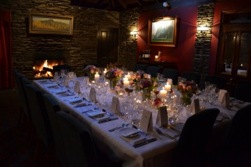 Gantleys Restaurant Table Set Up - Queenstown Holidays