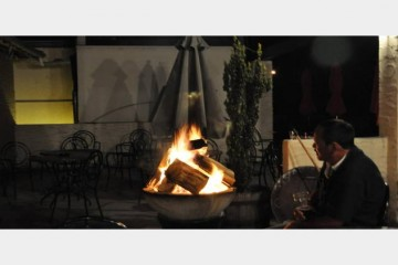 Enjoy warm nights by the fire at New Orleans Hotel - Queenstown Holidays
