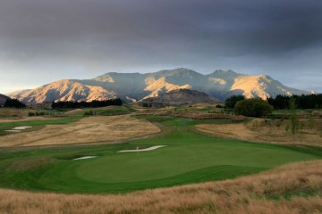 The Hills Golf Club View over the Mountain Range - New Zealand's Best Golf Club - Queenstown Holidays