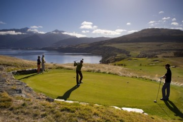 Over the Top Golf Shot - Queenstown Holidays