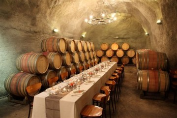 Gibbston Valley Winery Cave Seating - Queenstown Holidays