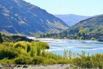 View of Kawarau Gorge from Felton Road Winery - Queenstown Holidays