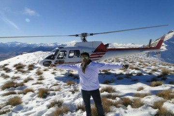 Glacier Southern Lakes Helicopters on the Mountain Top - Queenstown Holidays
