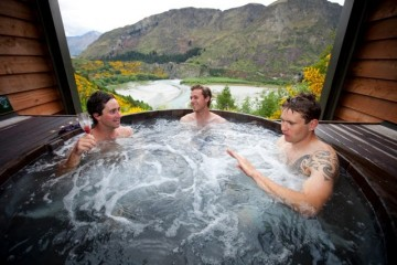 Hanging out at Onsen Hot Pools - Queenstown Holidays