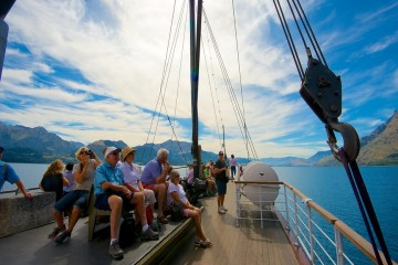 Guests Enjoying the Earnslaw Steamship Cruise - Queenstown Holidays