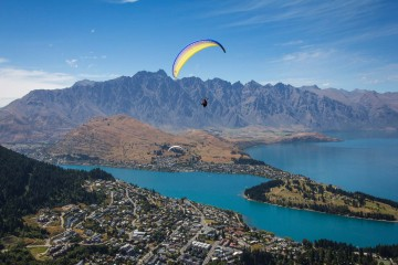 Queenstown while Paragliding with GForce | Queenstown Holidays