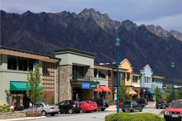 Remarkables Park Town Centre under the Remarkables Mountain Range - Queenstown Holidays