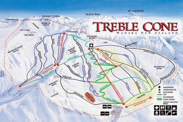 Treble Cone Map - Queenstown Holidays