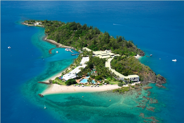 Queensland Islands - Birds eye view of Daydream Island