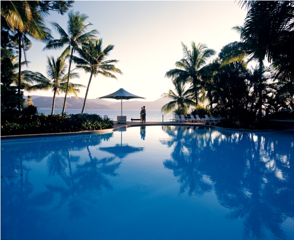 Daydream Island Resort Pool with Couple