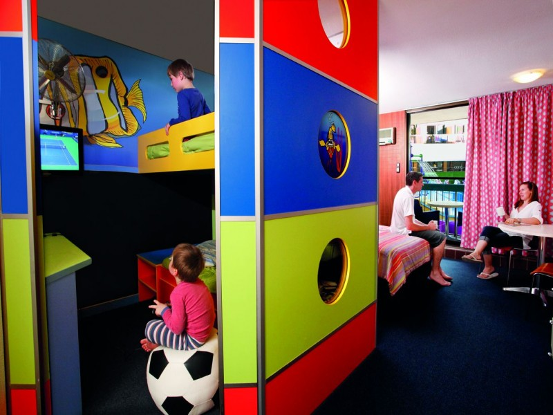 Junior Bunkhouse Room in Paradise Resort, famous for Family Accommodation on the Gold Coast - Hightide Holidays