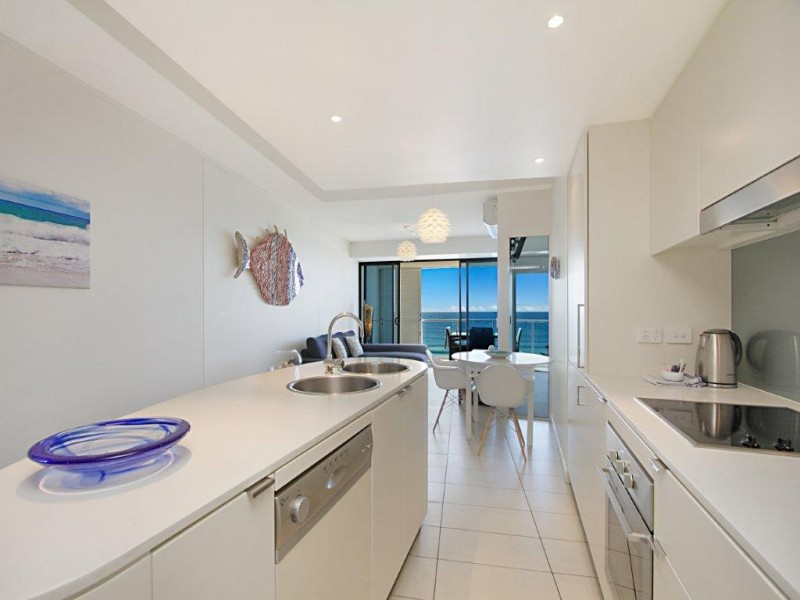 Luxury kitchen in an apartment in The Sebel Coolangatta