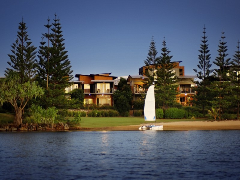 Grand Mercure Apartments Twin Waters View from Lagoon  - Hightide Holidays