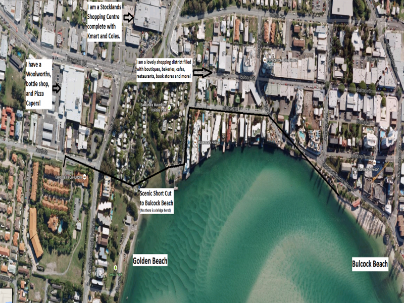 Oaks Oasis Caloundra Locals Map - Hightide Holidays
