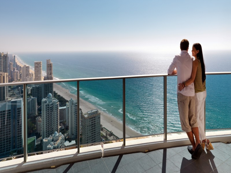 Penthouse View in the Hilton Surfers Paradise