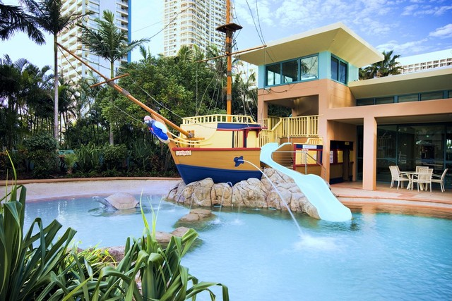 Mantra Crown Towers Surfers Paradise Children's Pool Area and Pirate Ship