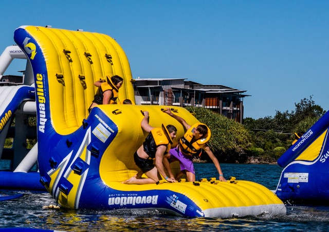 Novotel Twin Waters Inflatable Water Park - Discover Queensland
