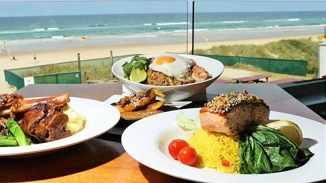 Northcliff Surf Club Food and View From Restaurant - Hightide Holidays