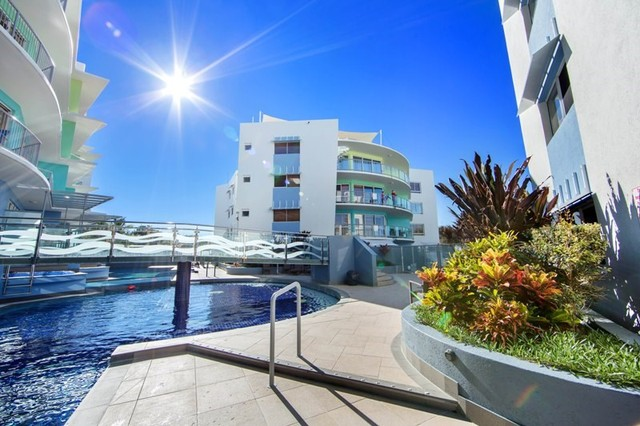 60 Metre Resort Pool in Rolling Surf Caloundra - Sunshine Coast Accommodation - Discover Queensland