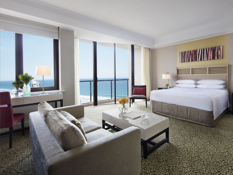 Junior Suite King in the Marriott Surfers Paradise with Ocean Views - Hightide Holidays