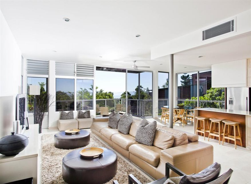 4 Bedroom Deluxe Villa Living Room at Peppers Noosa Resort and Villas | Discover Queensland