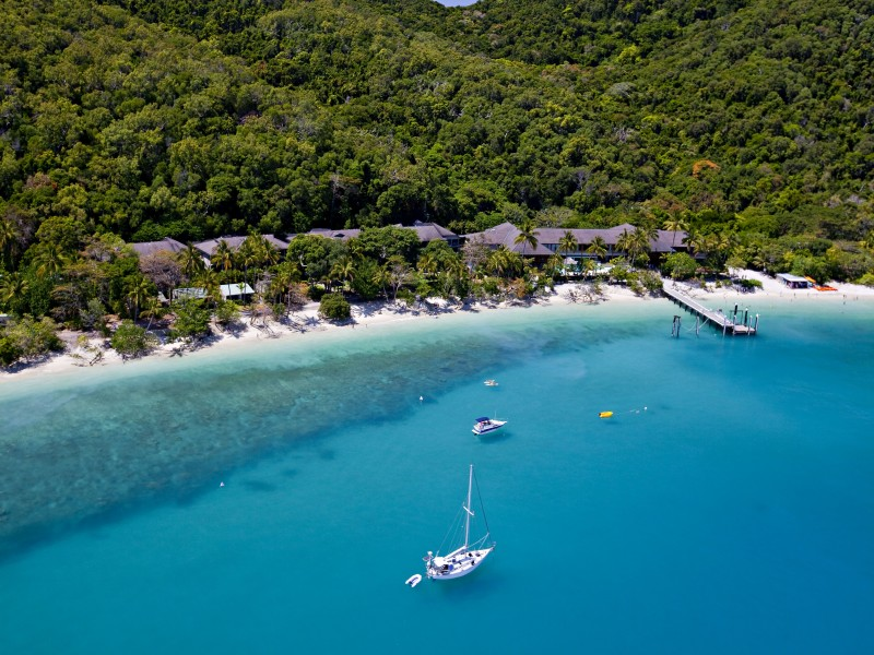 Aerial of Fitzroy Island Resort | Discover Queensland