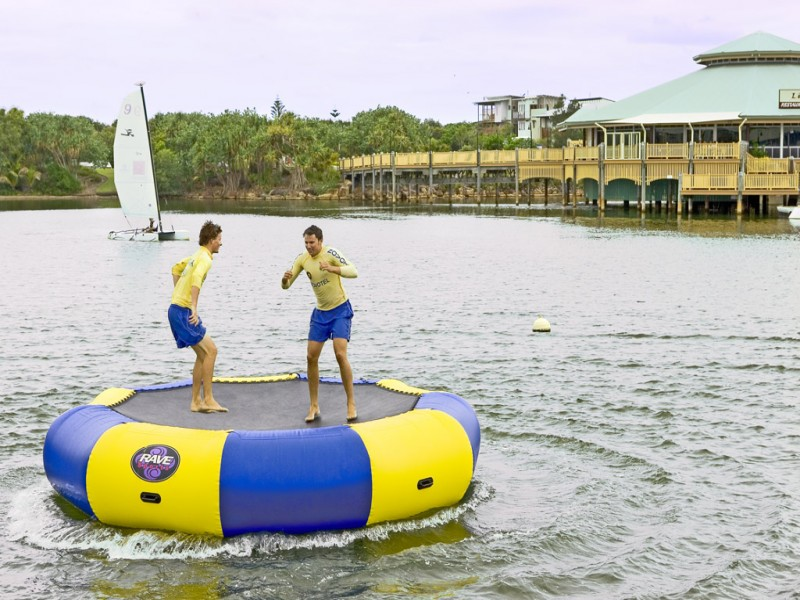 Novotel Twin Waters Resort Inflatable Trampoline | Discover Queensland