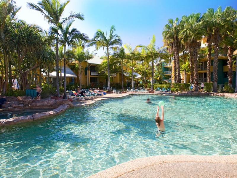 Breakfree Diamond Beach Lagoon Swimming Pools | Discover Queensland