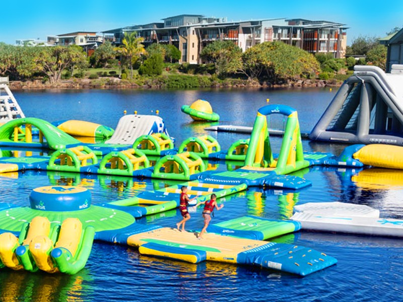 The Sebel Twin Waters and Novotel Twin Waters Inflatable Waterpark for the whole family on the Sunshine Coast | Discover Queensland