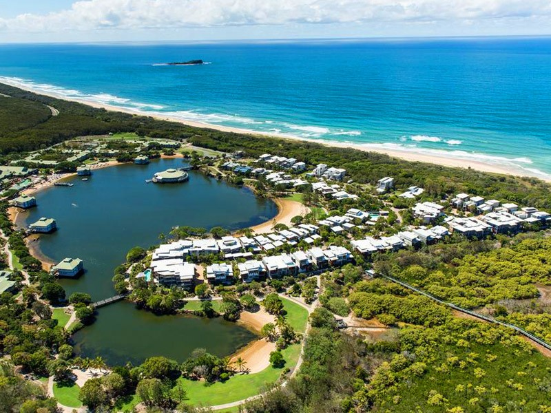 Sebel Twin Waters Aerial - Resort, Beach, Hinterland, and Maroochydore River - Discover Queensland