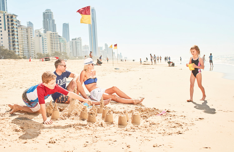 Spend a day at the beach on the Gold Coast | Top 5 Things To Do on the Gold Coast with Kids | Discover Queensland