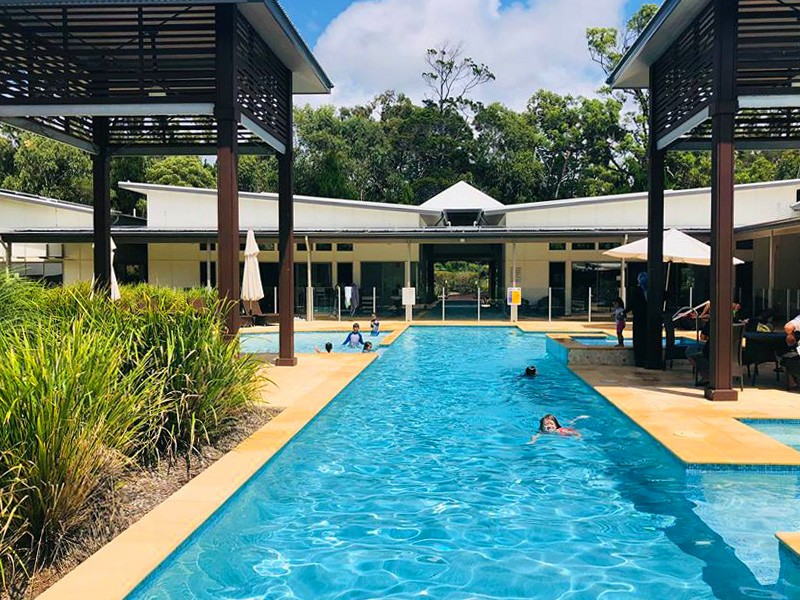 Swimming Pool at the Leisure Centre with heated spas and more | Our 3 Night Escape to Beach Road Holiday Homes at Noosa Northshore | Discover Queensland
