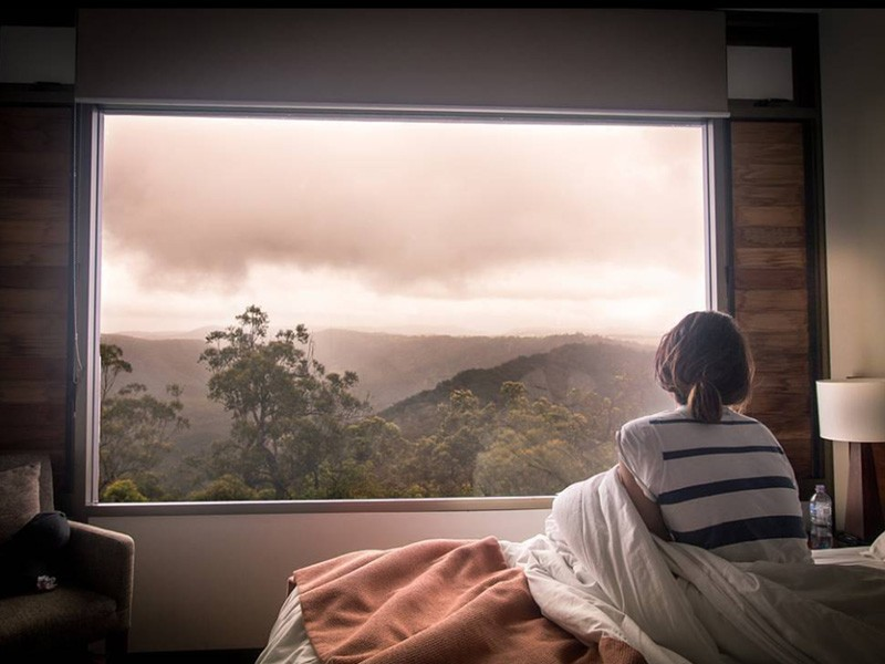 Photos That Will Make You Want To Visit Binna Burra Lodge | Cosy mornings snuggling in bed in the Gold Coast Hinterland | Discover Queensland | Image by @awoladams