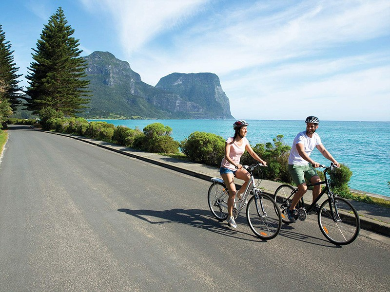 Bike Riding Lord Howe Island - Instagram - Destination New South Wales