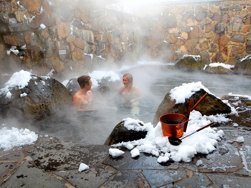 Japanese Onsen by Visit Victoria | How to do a snow holiday in the Victorian High Country | Discover Victoria